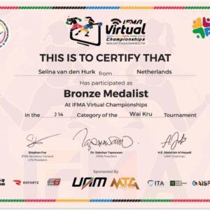 Officiële certificaten van IFMA Virtuele WK